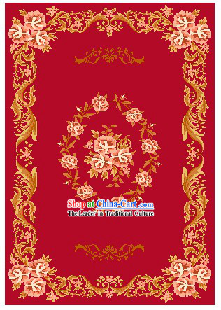 Art Decoration China Tibetan Large Hand Made Wool Rug (150*240cm)