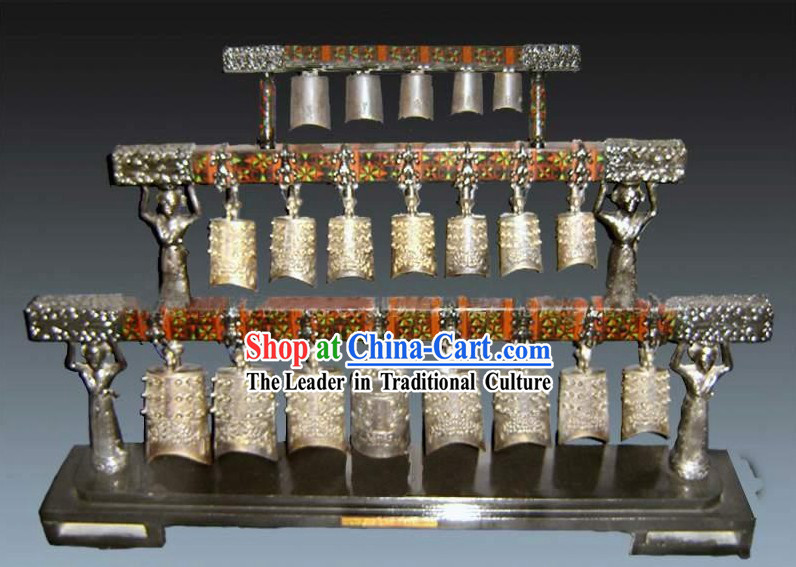 Chinese Antique Style Three Layers 20 Dragon Bell Set _BIAN ZHONG_