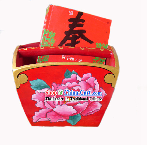 Chinese Hand Painted Tings Container