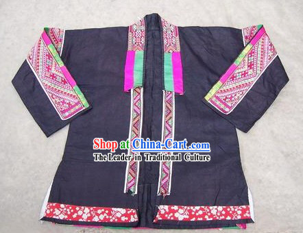 Chinese Miao Tribe Hand Embroidery Collectible-Stunning Dress for Woman