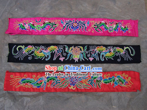 Chinese Stunning Miao Tribe Hand Embroidery Collectible-Belt