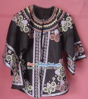 Stunning Miao Minority Silk Thread Hand Embroidery Jacket for Woman