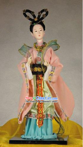 Handmade Peking Silk Figurine Doll - Li Qingzhao (Ancient Poet)