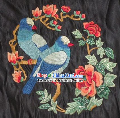 Chinese Hand Embroidered Handicraft-Birds Couple