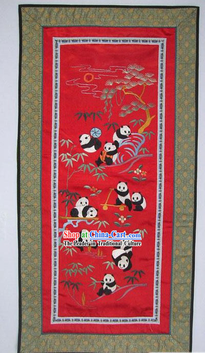 Chinese Embroidery Handicraft-Pandas