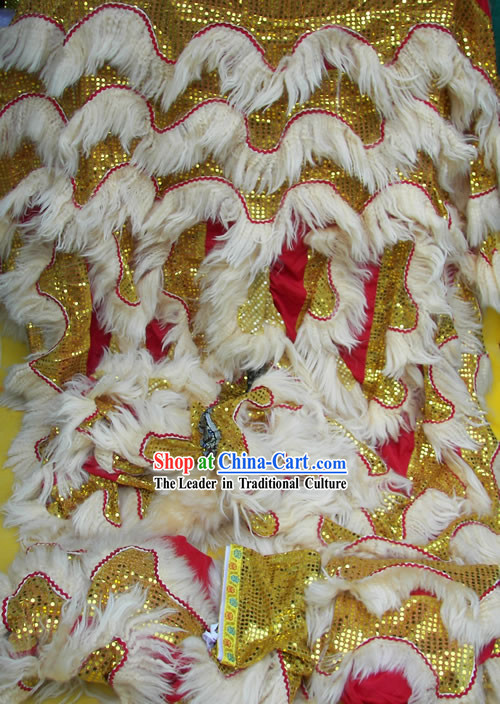 Natural Long Wool Lion Dance Body Costumes Pants Claws