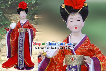 Handmade Peking Silk Figurine Doll - Tang Dynasty Beauty Empress 3