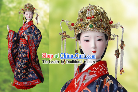 Large Handmade Peking Silk Figurine Doll - Song Dynasty Empress