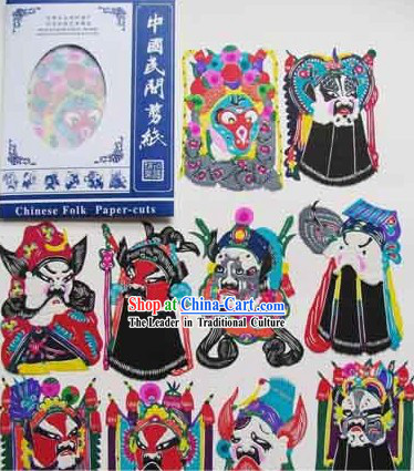 Chinese Opera Mask Papercut Collection_10 Pieces Set_