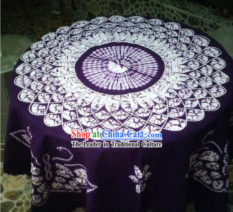 Chinese Classical Batik Tablecloth-Butterfly Love Flower 2