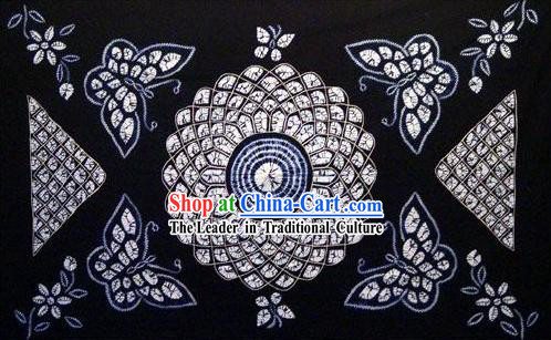 Chinese Classical Large Batik Tablecloth-Butterfly love Flower 1