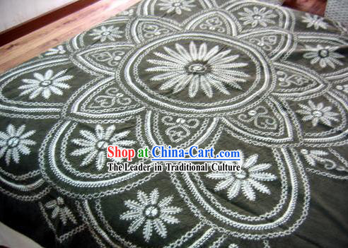 Chinese Classical Large Batik Tablecloth-Flower