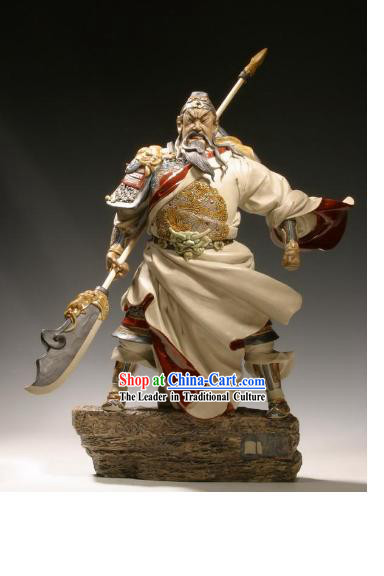 Chinese Classic Shiwan Ceramics Statue Arts Collection - Bravest