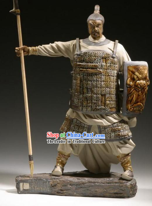 Chinese Classic Shiwan Ceramics Statue Arts Collection - Warrior