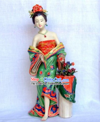Chinese Classical Shiwan Statue - Lady of Tang Dynasty