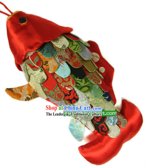 Chinese Traditional Handmade Large Fish Cushion for Leaning on