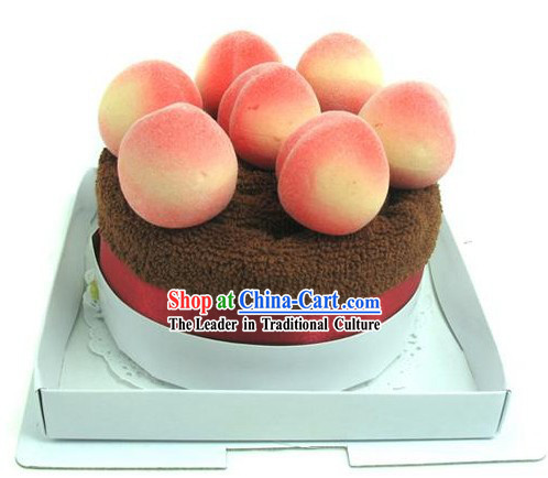 Cotton Peach Towel Cake - Christmas and New Year Gift