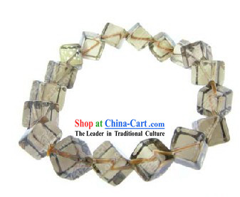 Kai Guang Feng Shui Chinese Tea-coloured Crystal Bracelet (healthy and happy)