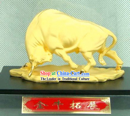 Chinese Feng Shui Lucky Cow (good luck in stock investing)