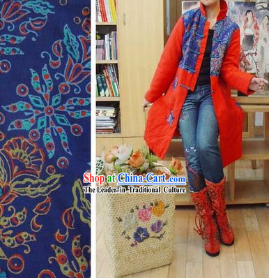 Supreme Chinese Traditional Minority Warm Long Outercoat for Women