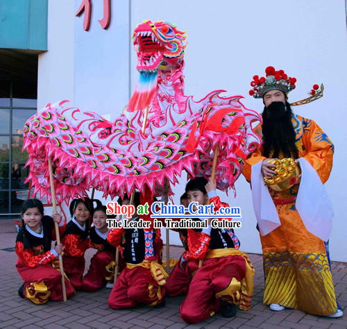 Top Quality Luminous Phoenix Tail Dragon Dance Costume Complete Set for Children