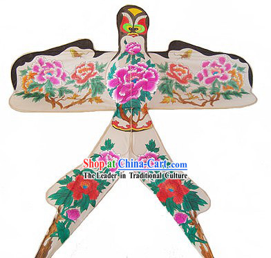 Chinese Traditional Weifang Hand Painted and Made Kite - Peony