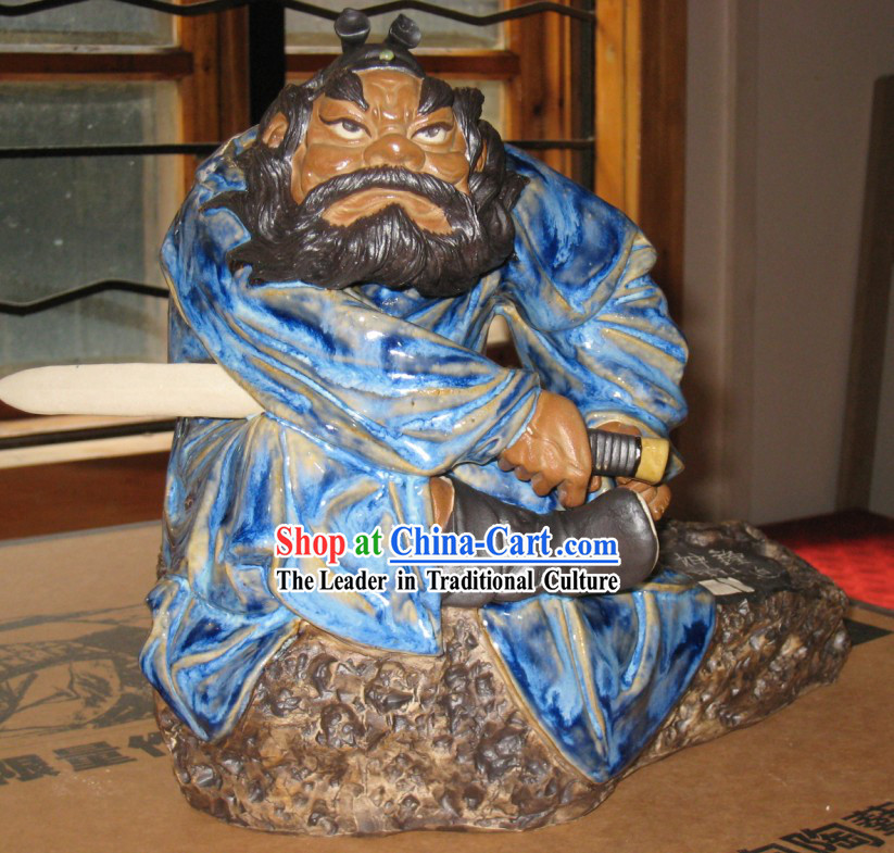 Chinese Classic Shiwan Ceramics Statue  - Zhong Kui (The God that Catches Ghosts)