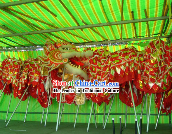 Supreme Traditional Large Dragon Dance Equipments Complete Set