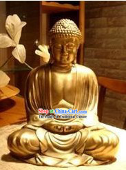 Chinese Classical Thinking Buddha Golden Statue