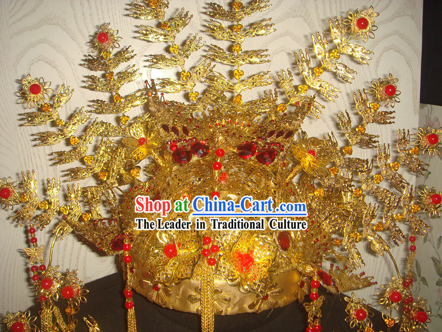 Chinese Classical Empress Wedding Hair Decoration Complete Set
