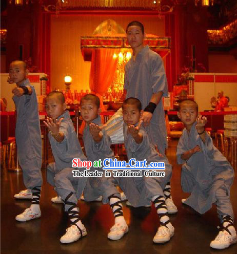 Shaolin Monk Robe Costumes Complete Set