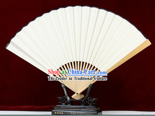 Chinese Handmade Plain White Fan