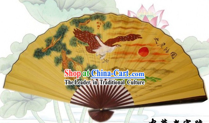 65 Inches Chinese Traditional Handmade Hanging Silk Decoration Fan - Da Peng Zhan Chi