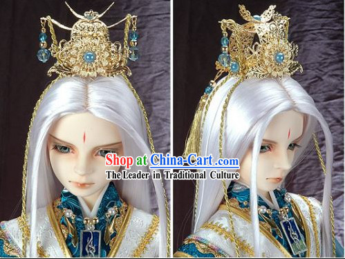 China Ancient Emperor Clothing and Hair Decoration Complete Set