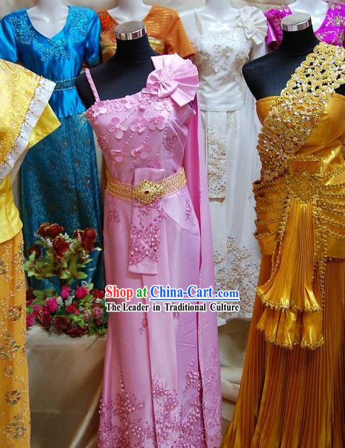 Traditional Thai Dance Costume Complete Set for Women