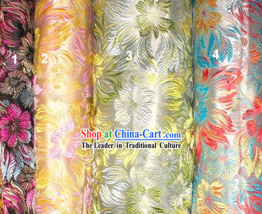 Stunning Flower Silk Fabric