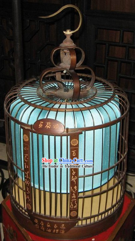 Chinese Antique Style Birdcage Hanging Palace Lantern