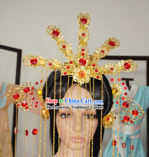 Hand Made Chinese Phoenix Wedding Hair Decoration Complete Set