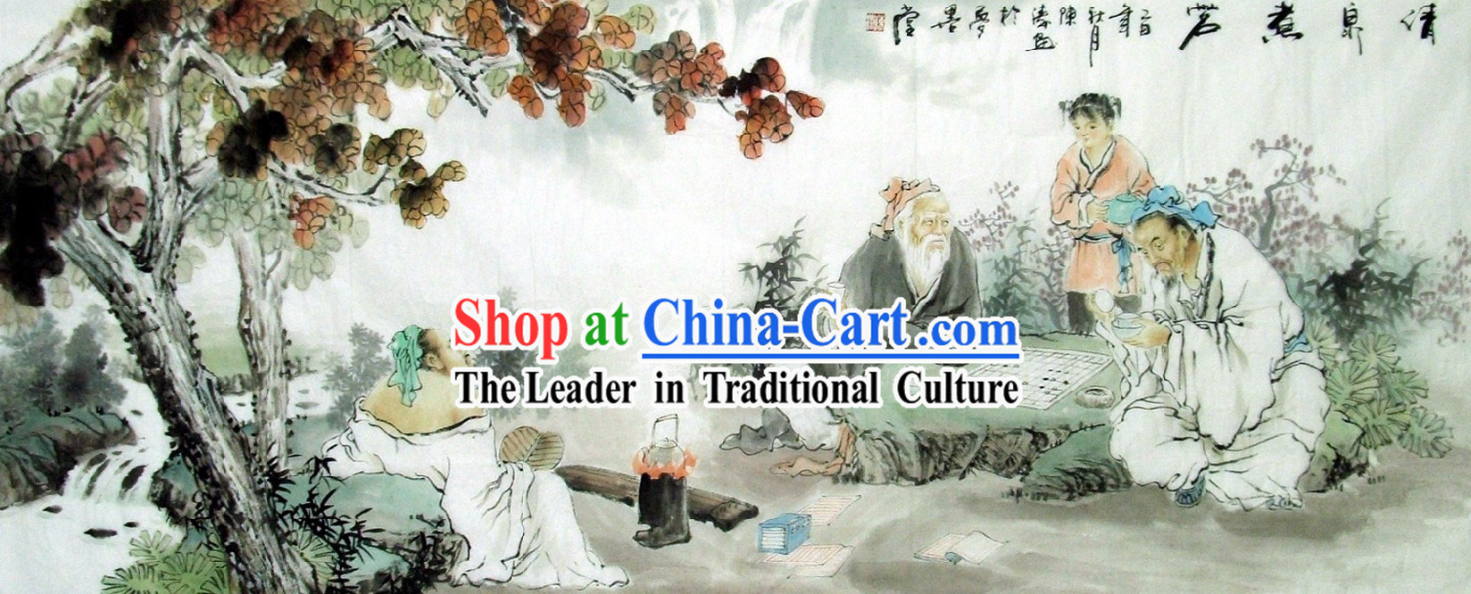 Traditional Chinese Figurine Painting by Chen Tao