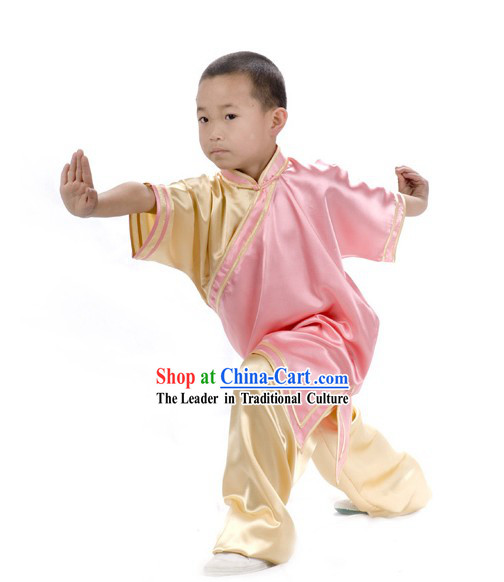 Chinese Professional Martial Arts Tai Chi Uniform Complete Set for Children