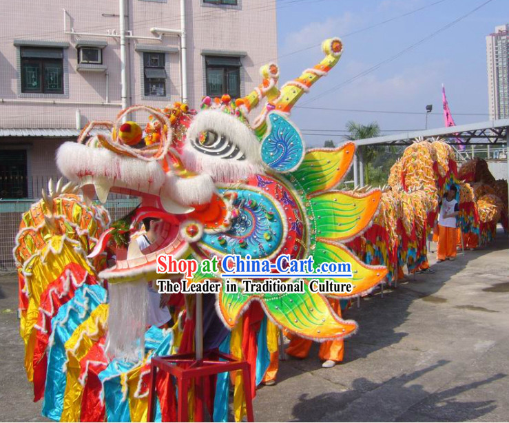 Large Chinese Classical Dragon Dance Equipments Complete Set for 20 People