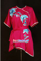 China Martial Arts Tai Chi Embroidered Flower Uniform
