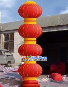 315 Inch Large Inflatable Four Lanterns Colume Set