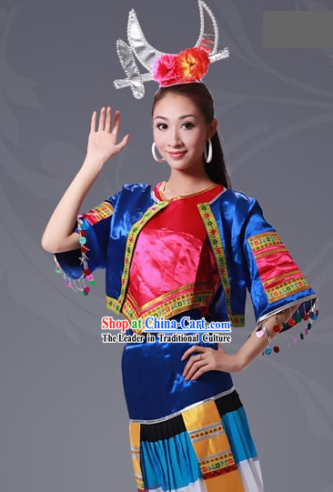 Chinese Li Minority Costumes Set for Women