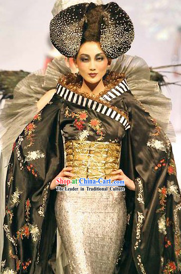 Chinese Classical Performance Costume and Wig Complete Set