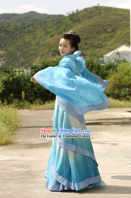 TV Drama Legend of Sword and Fairy Color Transition Fairy Guzhuang Costume Complete Set
