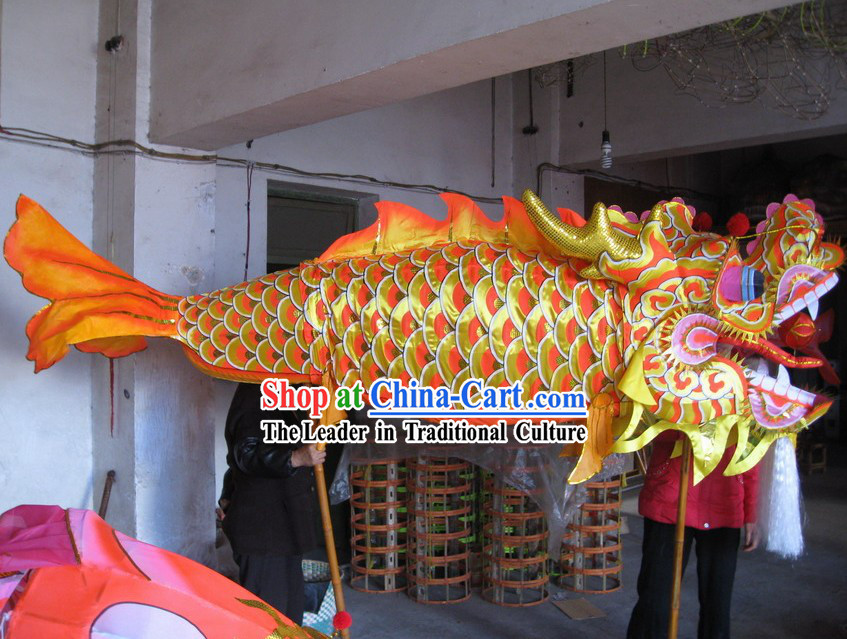 Traditional Chinese New Year Fish Dragon Dance Costumes Complete Set