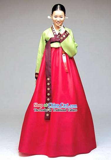 Top Grade National Costume of Korea Traditional Korean Hanbok Clothing Set