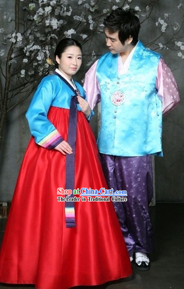 Traditional Korean Hanbok Costume for Couple