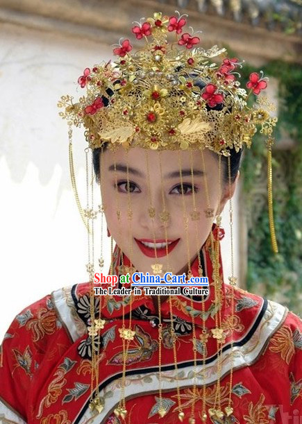 Traditional Chinese Wedding Phoenix Crown Set